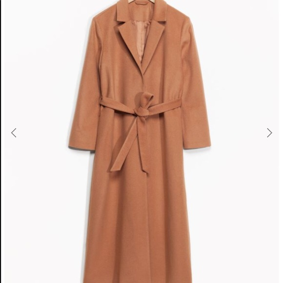 & Other Stories Long Wool Coat - Camel